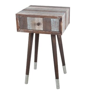 Sherman Wood Iron End Table by Union Rustic