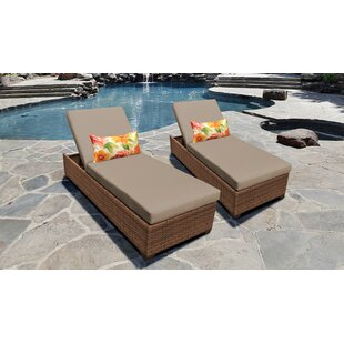 Medina Reclining Sun Lounger Set with Cushion (Set of 2)