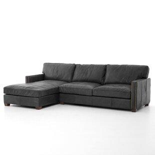 Trent Austin Design Grandfield Leather Reversible Sectional