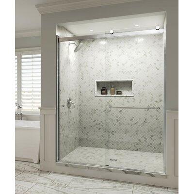 Frameless Rolling Glass Shower Doors.Rotolo 59 X 76 Bypass Frameless Shower Door Basco