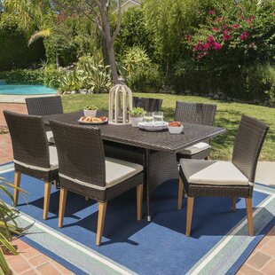 Saurabh Outdoor 7 Piece Dining Set with Cushions