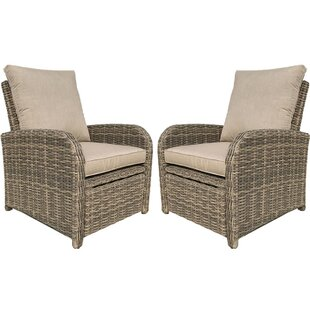 Desalvo Recliner Patio Chair with Sunbrella Cushions (Set of 2)