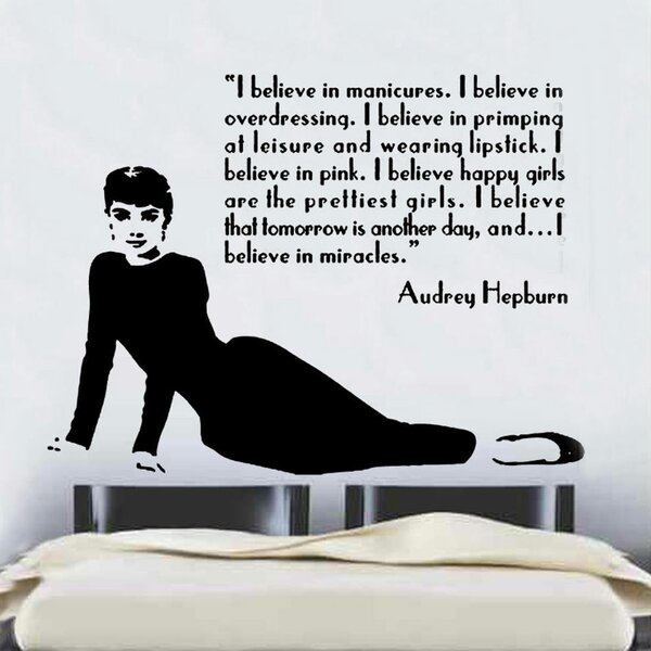 kult kanvas audrey hepburn quote design 2 decal vinyl wall sticker