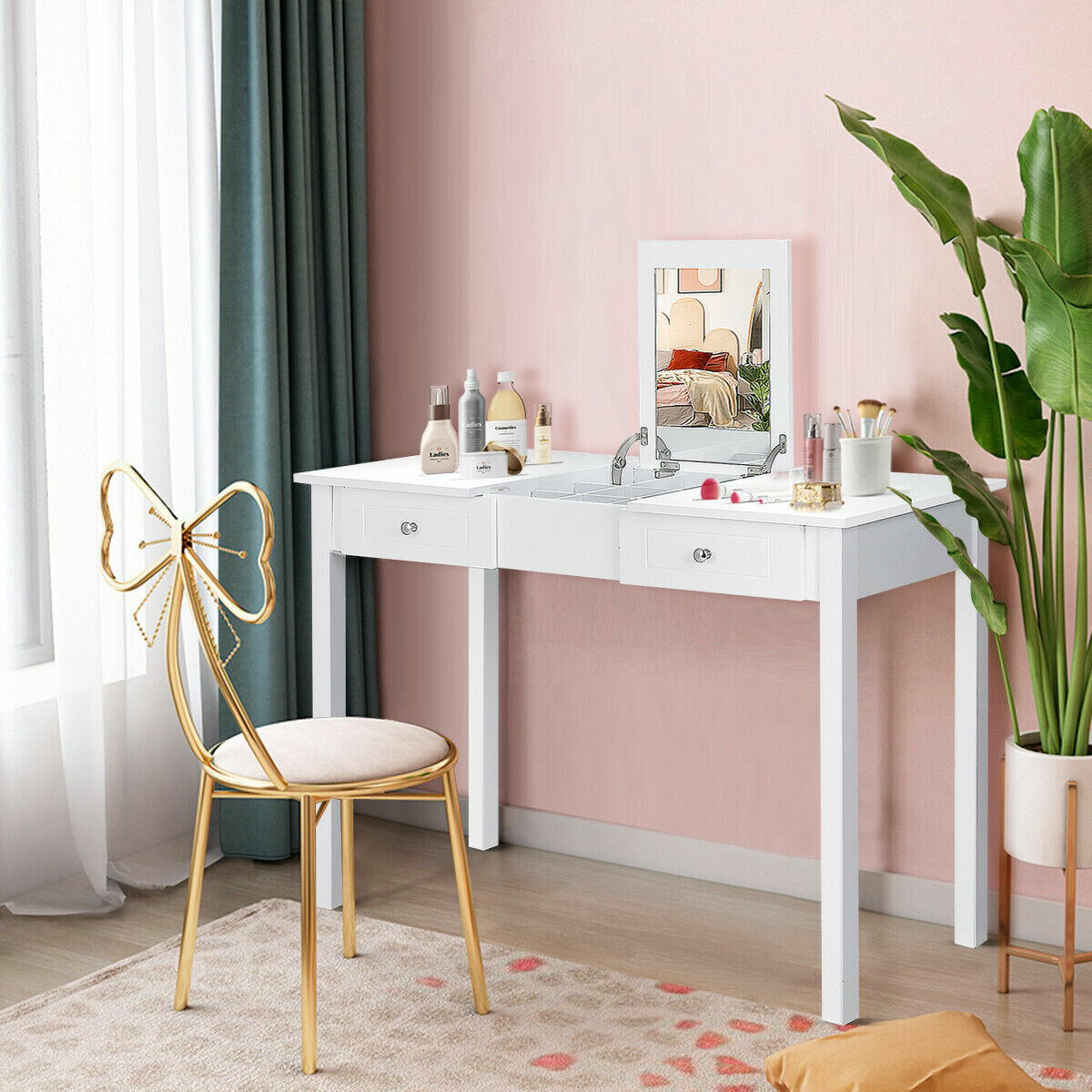 Charlton Home Kaila Vanity With Mirror Reviews Wayfair