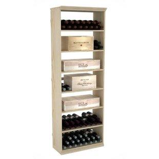 Prestige Series Solid Rectangular Bin 150 Bottle Floor Wine Bottle Rack