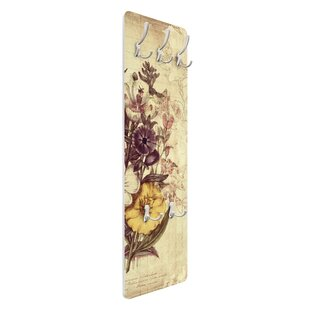 Vintage Letter Bouquet Wall Mounted Coat Rack By Symple Stuff