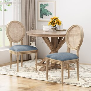 Evelina Solid Wood Dining Chair (Set of 2) by One Allium Way