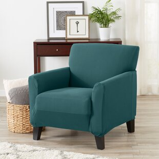 Super Soft Jersey Knit Box Cushion Armchair Slipcover