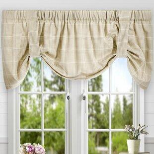Ivory & Cream Tie-Up Valances & Kitchen Curtains You\'ll Love | Wayfair