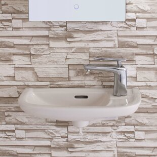 Shop For Ceramic 19 Wall Mount Bathroom Sink with Overflow ByFine Fixtures