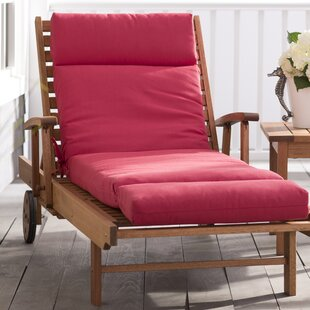Beachcrest Home Indoor/Outdoor Red Sunbrella Chaise Lounge Cushion
