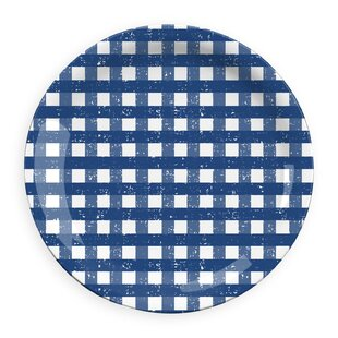 Lostwithiel Gingham Melamine Dinner Plate (Set of 4)