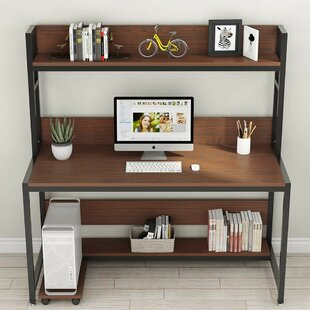 Mund Large Computer Desk With Hutch by Williston Forge Modern