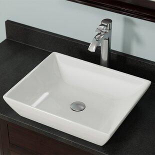 MR Direct Vitreous China Rectangular Vessel Bathroom Sink