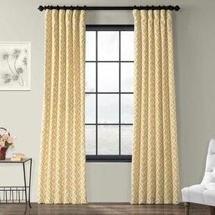 Berumen Geometric Room Darkening Rod Pocket Single Curtain Panel