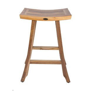 EarthyTeak Satori Teak Patio Bar Stool