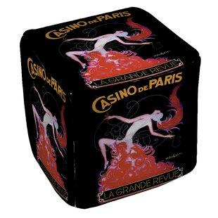 Casino De Paris Pouf by Manual Woodworkers & Weavers