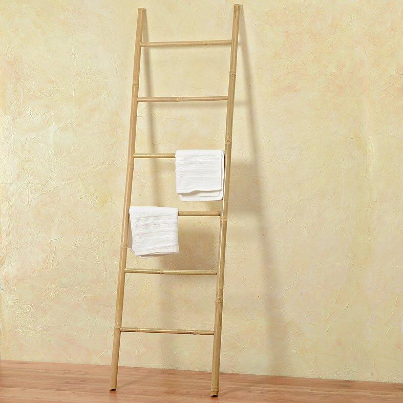 WholeHouseWorlds Key West Bamboo 6.5 ft Decorative Ladder | Wayfair