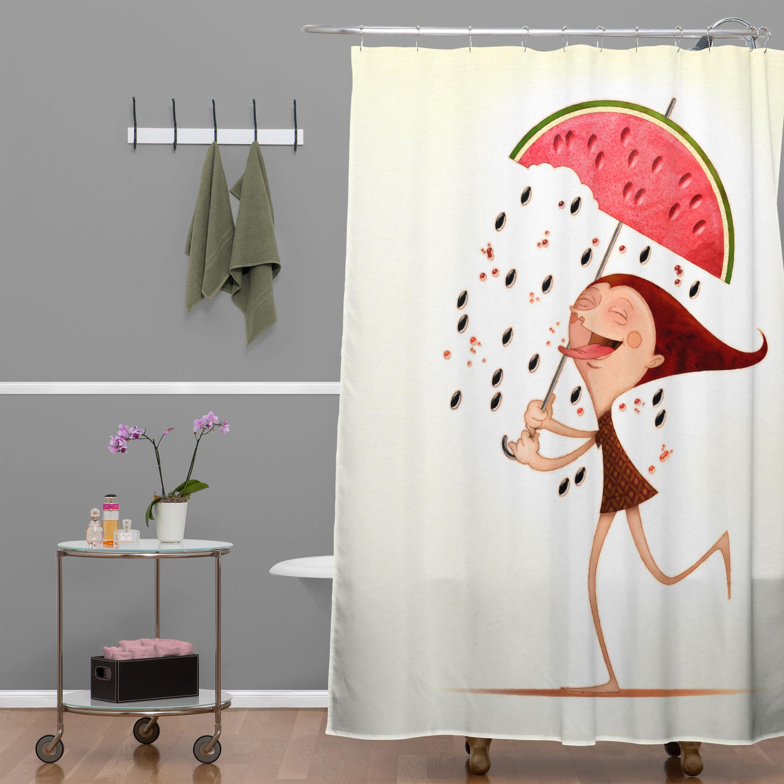 Deny Designs Jose Luis Guerrero Watermelon Single Shower Curtain Reviews Wayfair