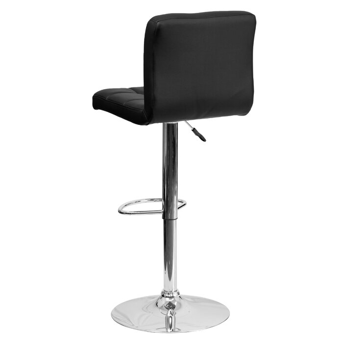 Awe Inspiring Hirano Adjustable Height Swivel Bar Stool Creativecarmelina Interior Chair Design Creativecarmelinacom