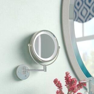 Latitude Run Sauceda Round LED Wall Mirror