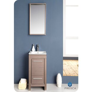 Check Prices Allier 16 Single Small Modern Bathroom Vanity Set with Mirror By Fresca