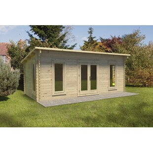 Vidrine 20 X 11 Ft. Tongue & Groove Log Cabin By Sol 72 Outdoor