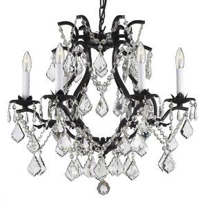 Alvarado 6-Light Traditional Crystal Chandelier