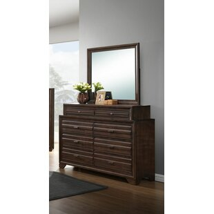 Compare Wooster 8 Drawer Double Dresser with Mirror by Gracie Oaks