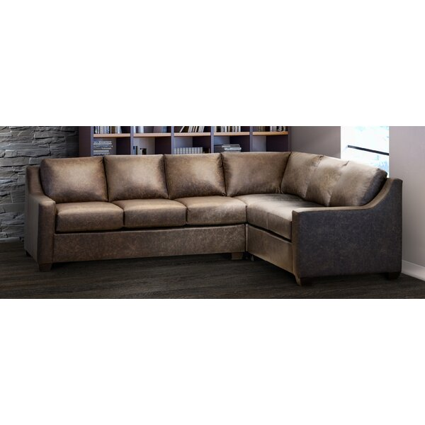 Superb Top Grain Leather Sectional Wayfair Bralicious Painted Fabric Chair Ideas Braliciousco
