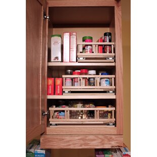 Upper Cabinet Spice Rack Caddy Small Pull Out Drawer