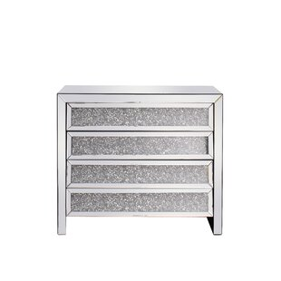 Jadon Crystal 4 Drawer Accent Chest by Rosdorf Park