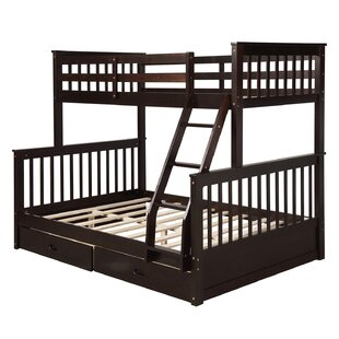 Patria Twin over Full Bunk Bed with 2 Drawers by Harriet Bee