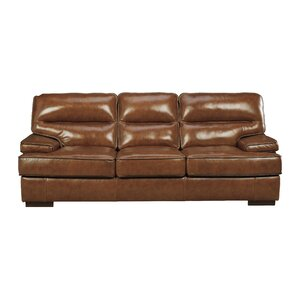 Haines Leather Sofa by 17 Stories