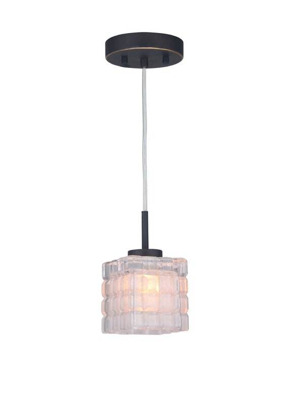 Wrought Studio Sadowski 1 - Light Single Square Pendant with Crystal Accents