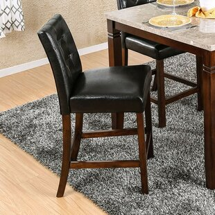 Mirfield Counter Height Upholstered Dining Chair (Set of 2)