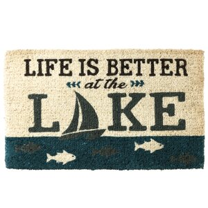 'Life is Better at the Lake' Doormat