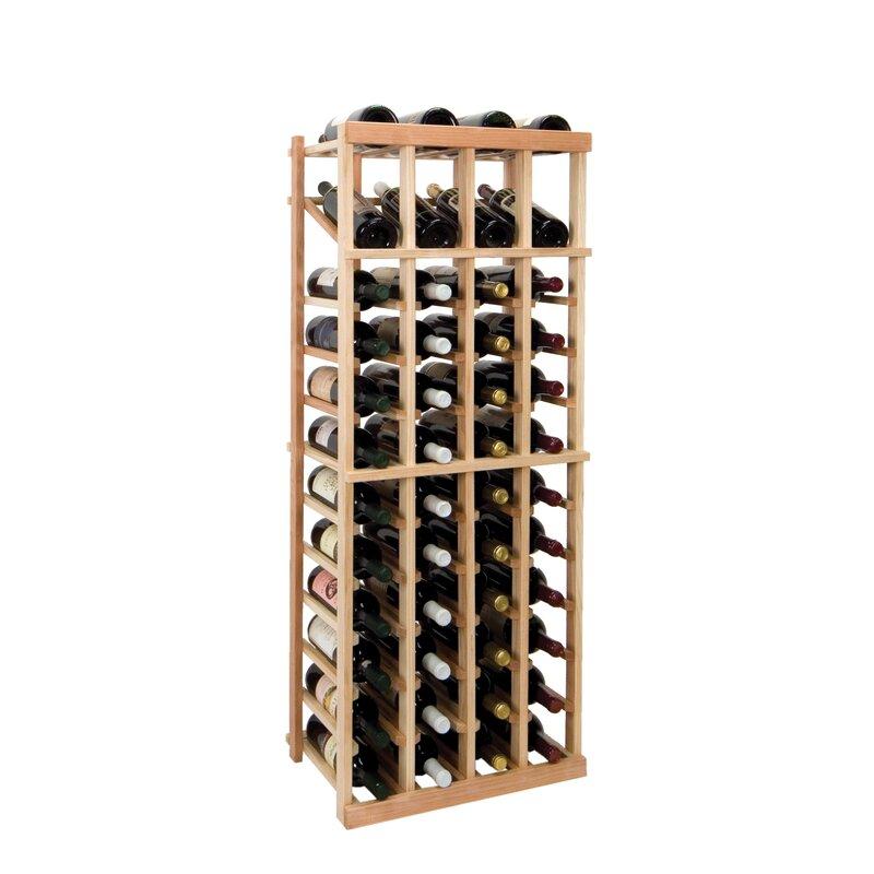 Symple Stuff Florian 48 Bottle Floor Wine Bottle Rack Wayfair