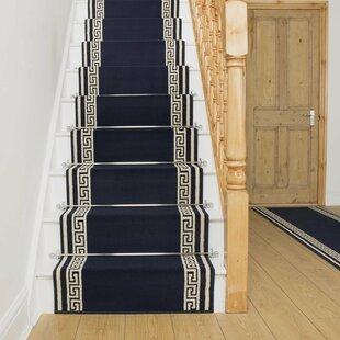 Almon Tufted Blue Stair Runner Image