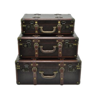 17 Stories Selma Suitcase 3 Piece Trunk Set