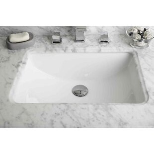 Purchase Ceramic Rectangular Undermount Bathroom Sink with Overflow ByAmerican Imaginations