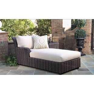 Aruba Chaise Lounge with Cushion and Table by Whitecraft
