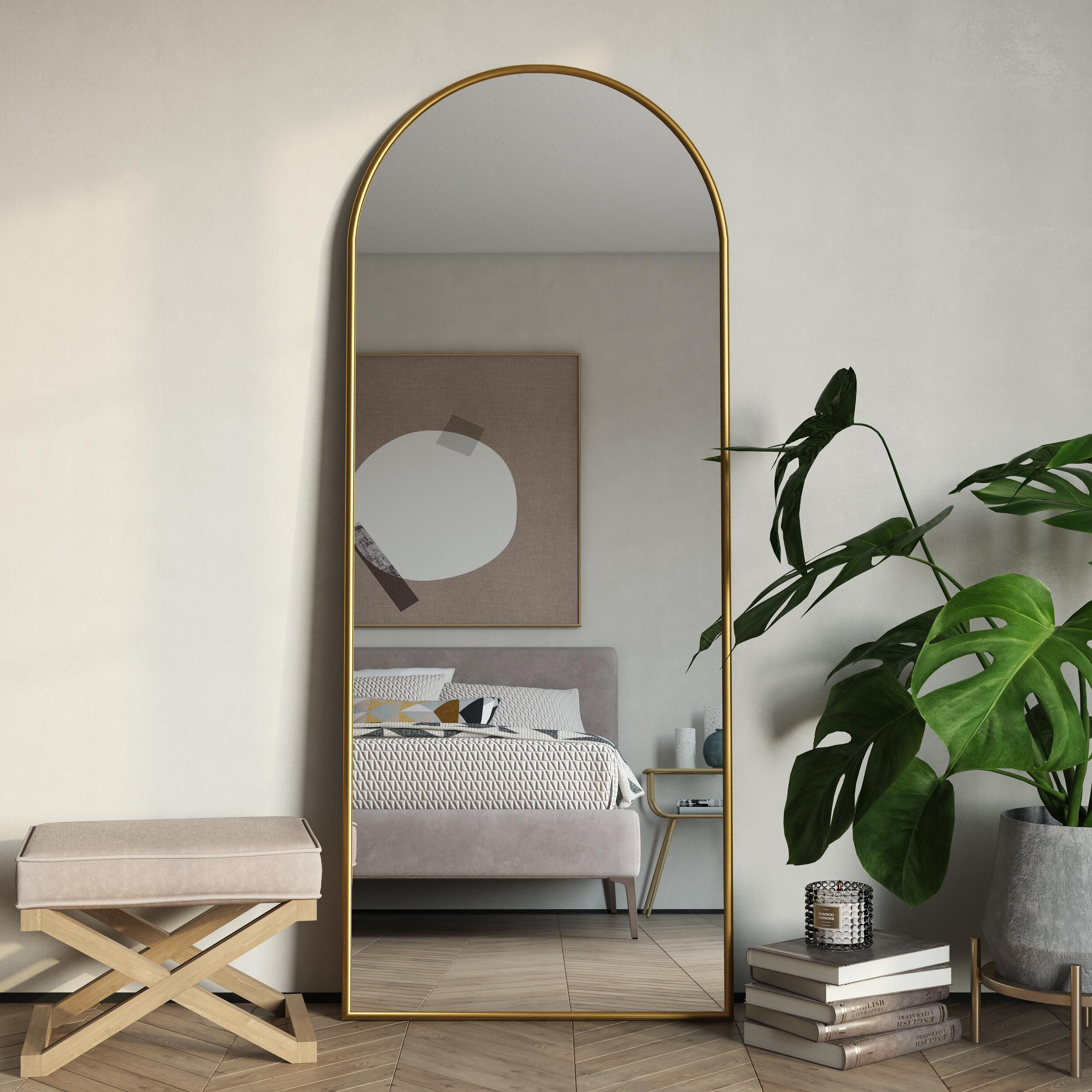 Tysen Modern Arch Floor Mirror Reviews Joss Main