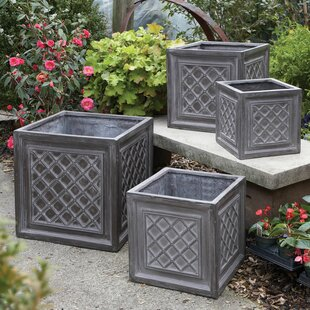 Darby Home Co Valenzano 4-Piece Composite Planter Box Set