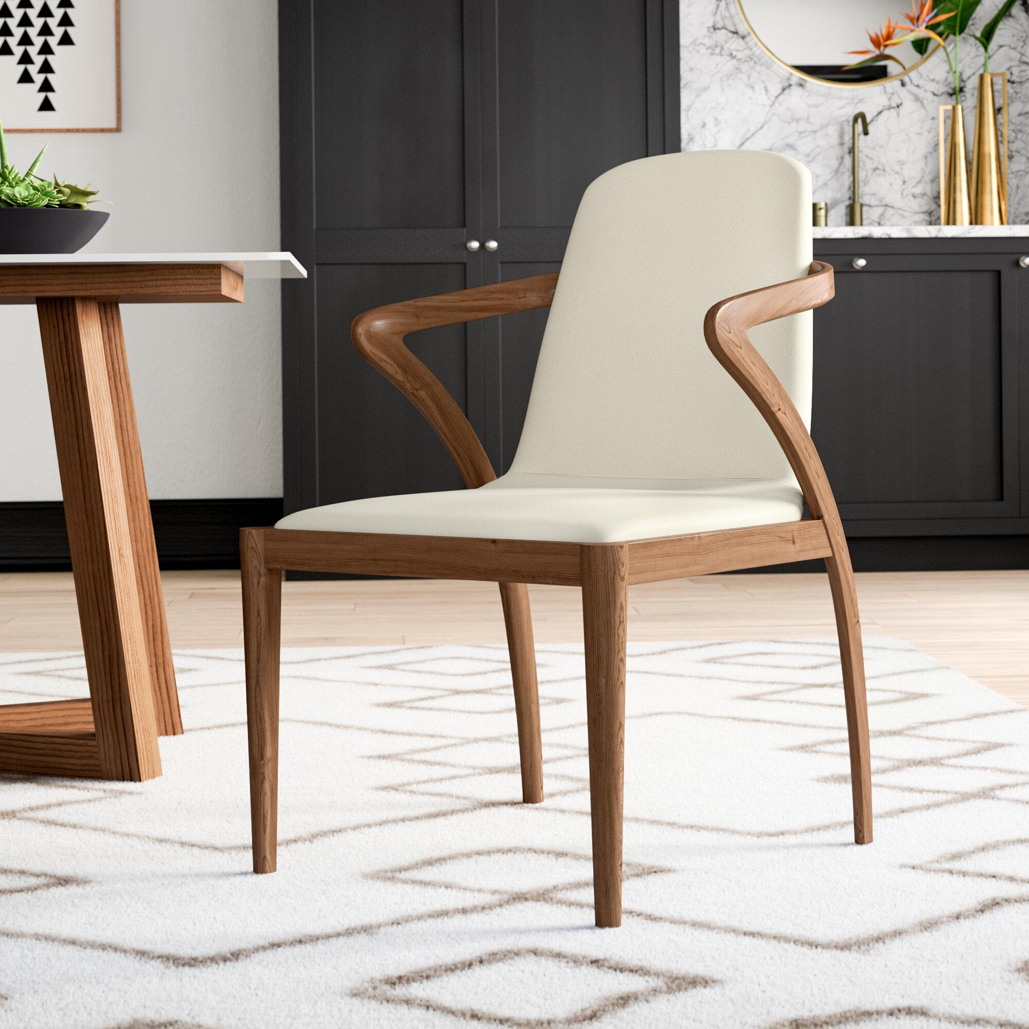 Mercury Row Mullan Bend Upholstered Dining Chair Reviews Wayfair