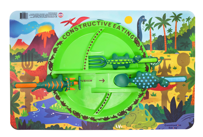 Constructive Eating Dino 4 Piece 9 Dinner Plate Set Reviews Wayfair