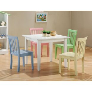 Brose 5 Piece Dining Set Harriet Bee