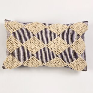 St. Charles Textured Raised Cotton Lumbar Pillow