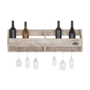 Sayre Traditional Pine Wood Multi-Bottle Wall Mo..