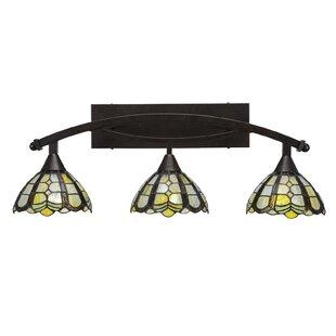 Astoria Grand Austinburg 3-Light 100W Tiffany Glass Shade Vanity Light